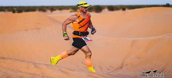 Luis Alonso Marcos, campeón de los 100 kms del Sahara con el HS2 de Olight